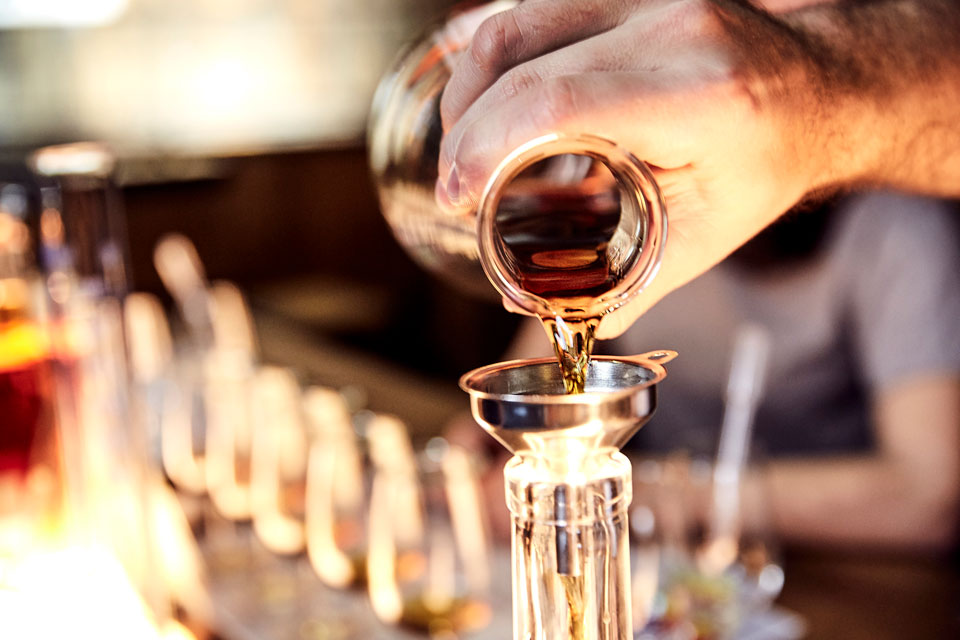 Blend your own rum at Bundaberg.