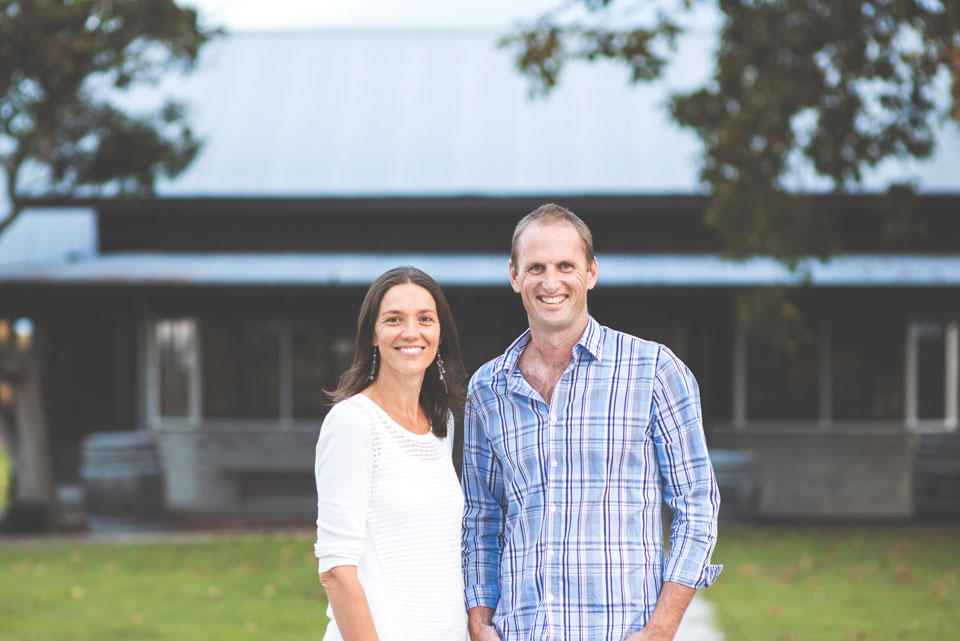 Matawhero Wines owners Kirsten and Richard Searle.