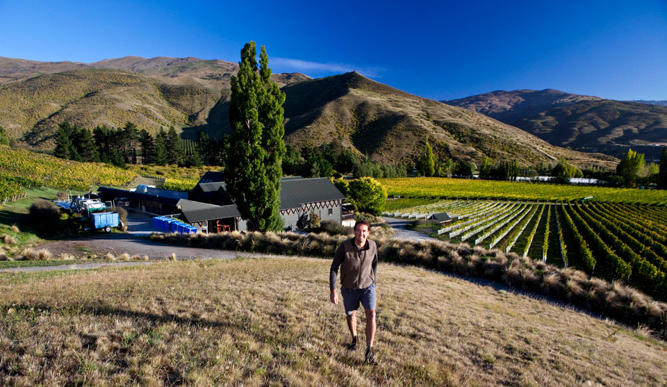 Blair Walter at Felton Road,  Central Otago.