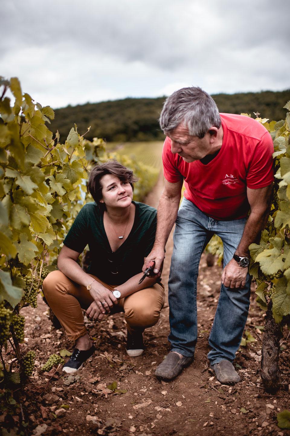 Cyrielle and  Eric Rousseau  of Domaine  Armand Rosseau.