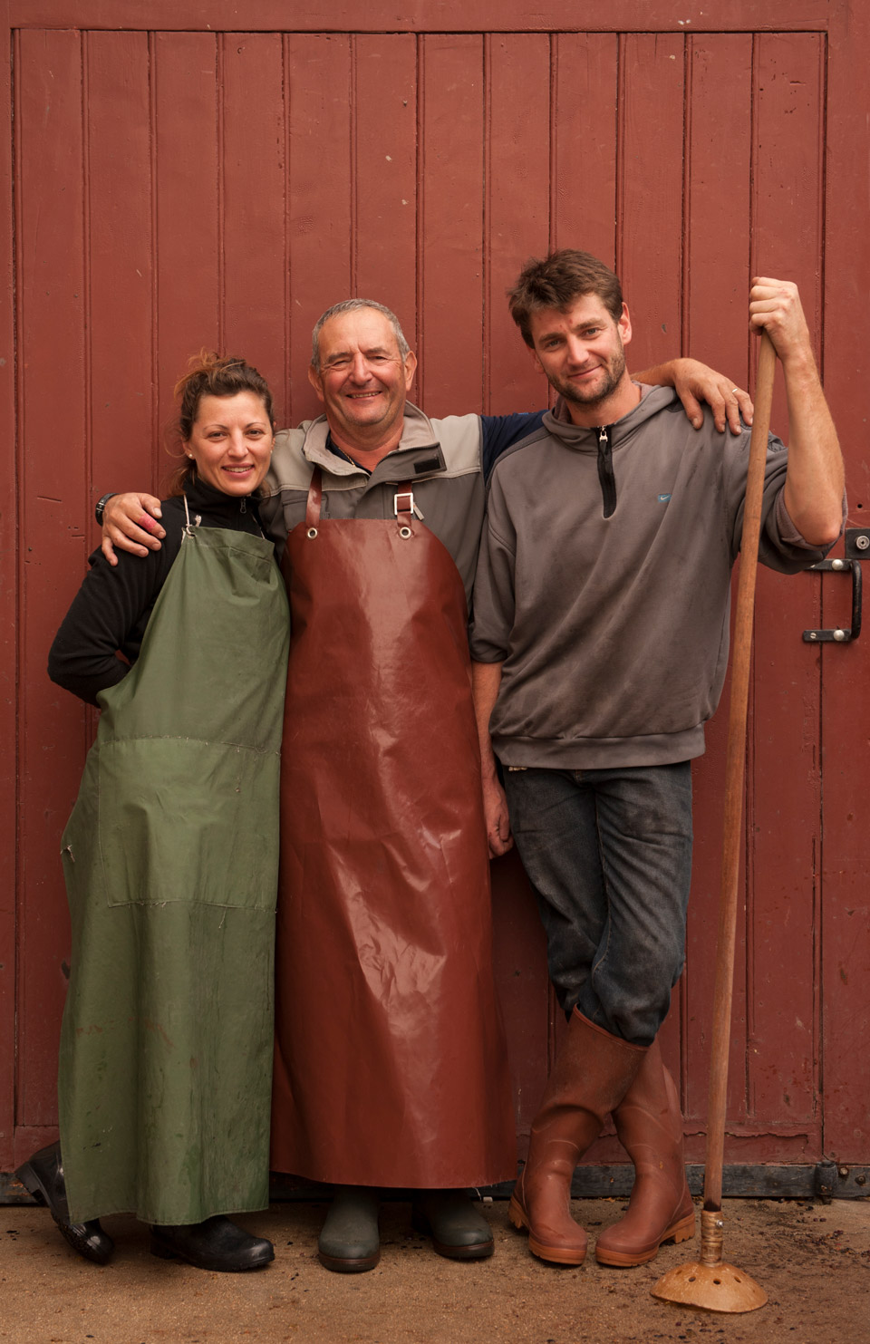 Philippe Drouhin, of Drouhin-Laroze, is joined by his children Caroline and Nicolas.