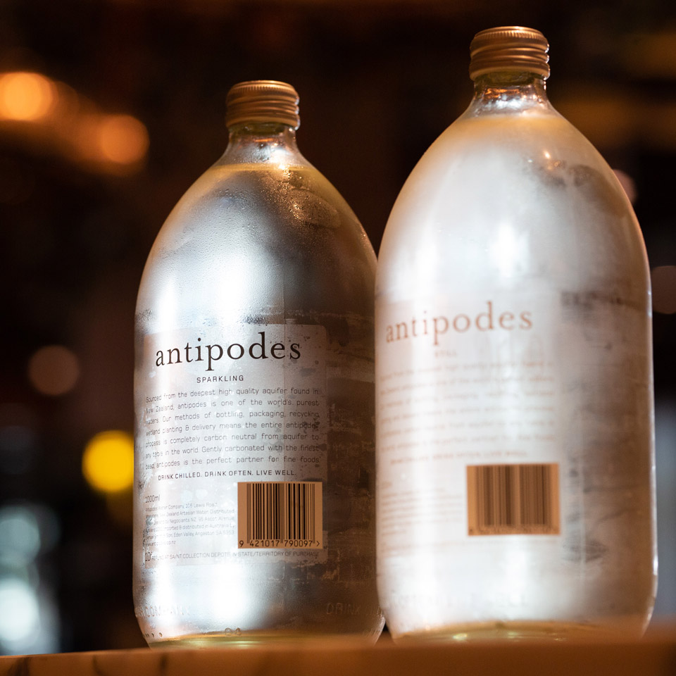 Antipodes water proved  refreshing.