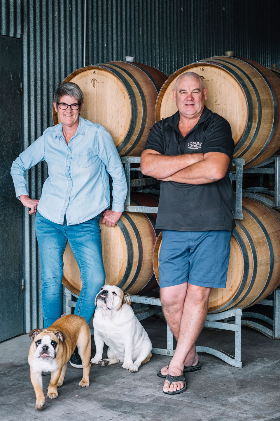 Mandy and Arthur Jones  of Jones Winery