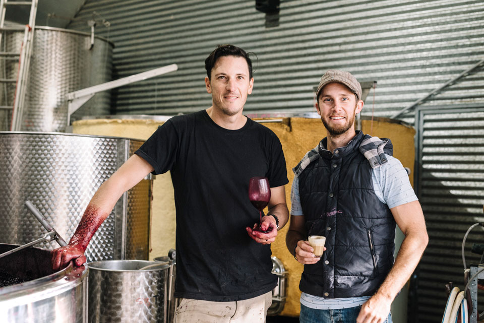 Rowly Milhinch  and Joey Warren  of Scion Wines