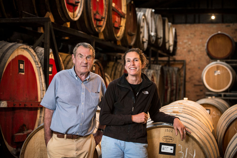 Father and daughter winemakers Colin and Julie Campbell