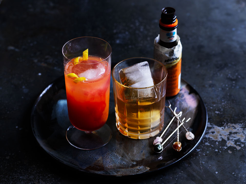 The citrus-based Meyer Sling and Sweet & Sour  Mash cocktails