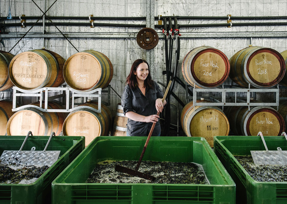 Winemaker Steph Helm of The Vintner's Daughter.