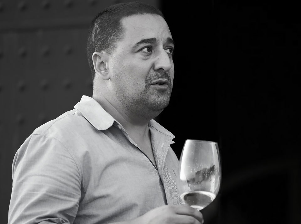 Sebastien Khoury, owner- winemaker at  Domaine de Baal.