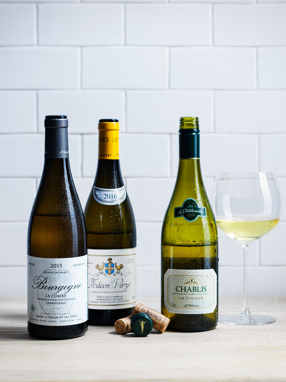 The Marc Colin et Fils and La Chablisienne Le Finage were the top chardonnays from the tasting.