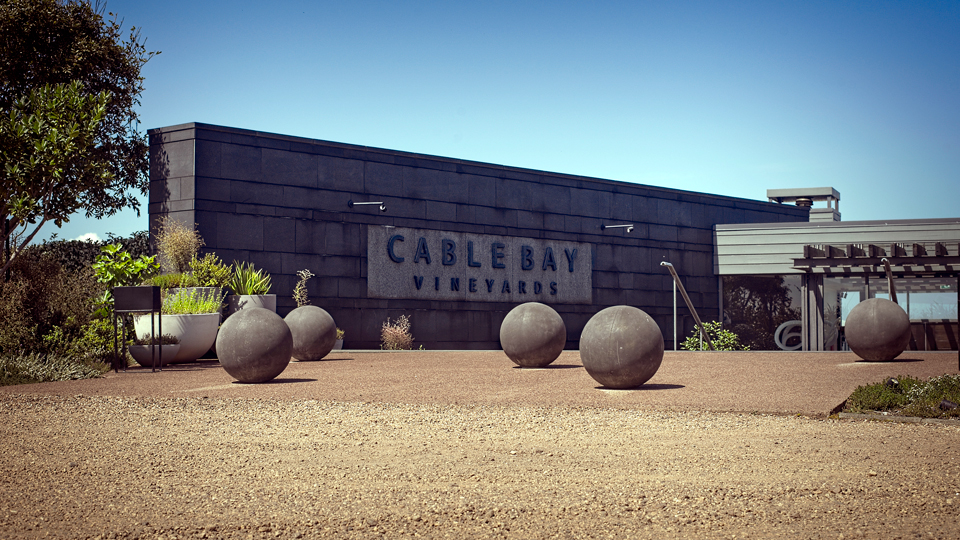 Produce for Cable Bay's winery restaurant comes from its large organic garden.