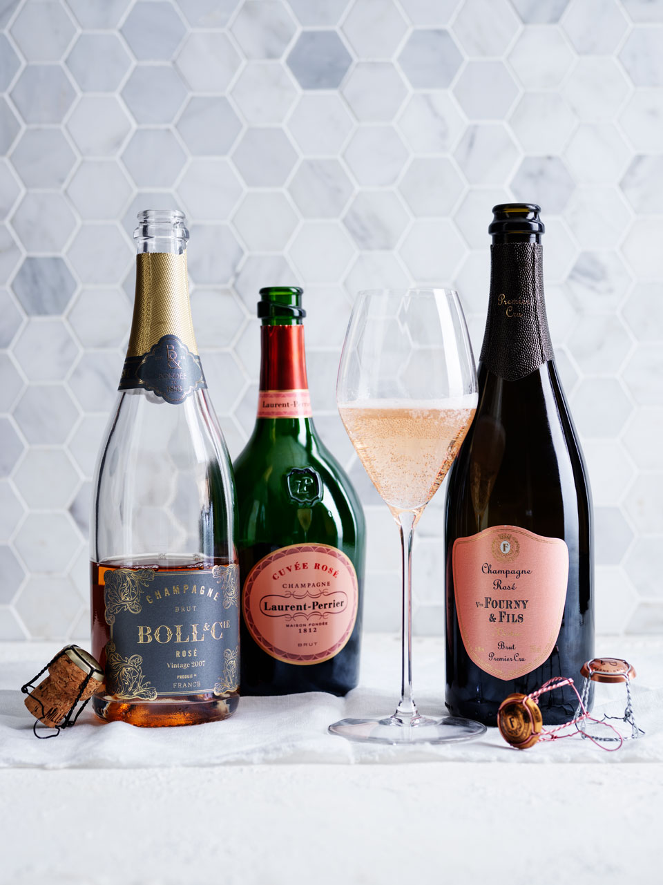 The Veuve Fourny & Fils was one of four wines to top  the tasting with  96 points.