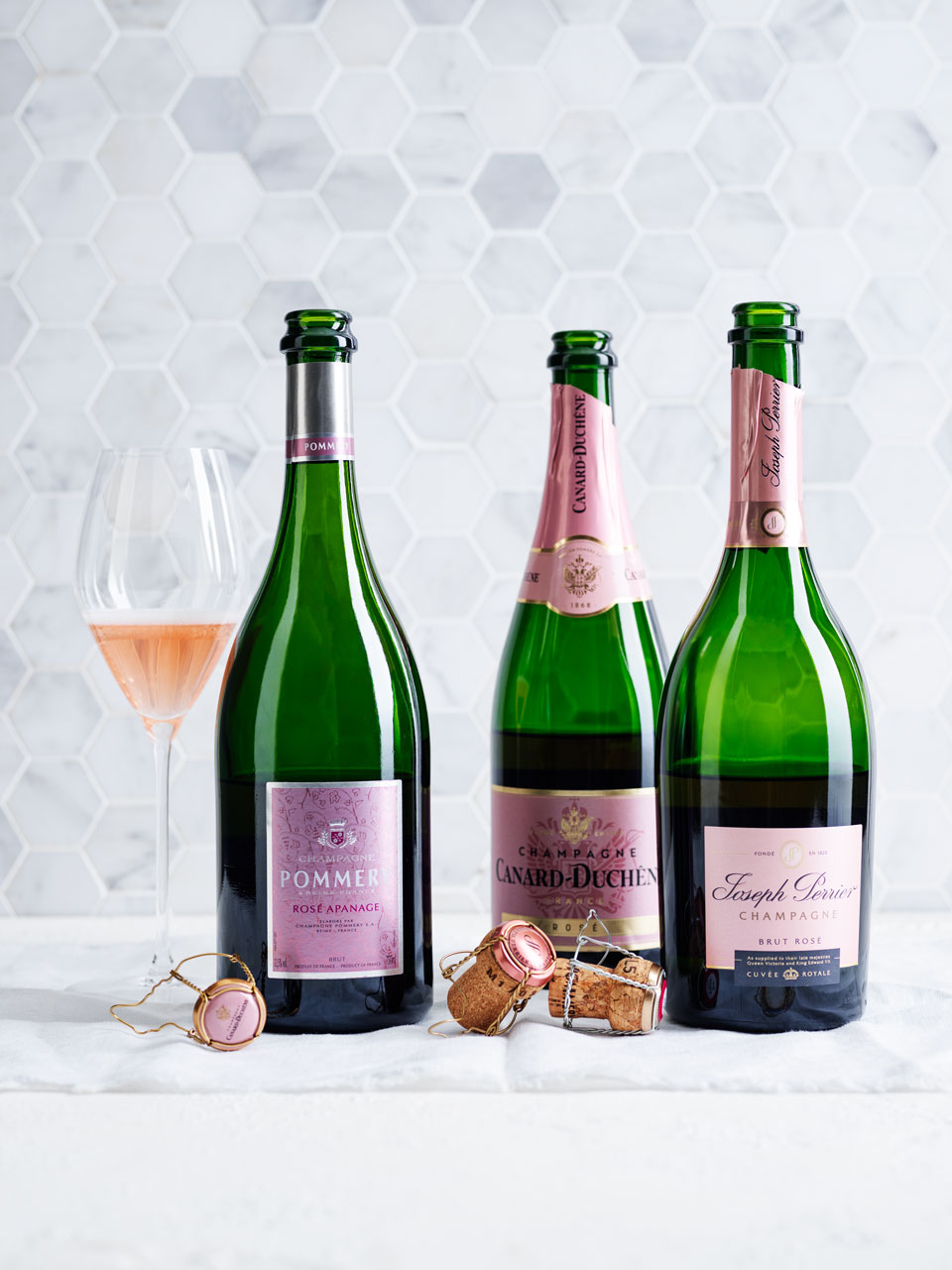 Champagne  frequently shows  the interplay of either aldehyde  or reduction.