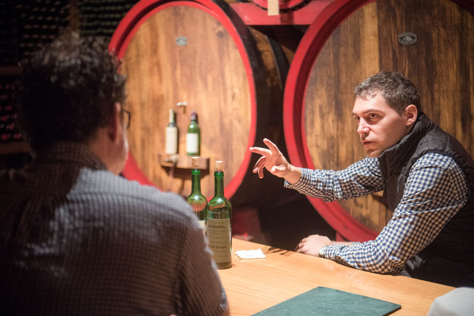 Francesco Grigoli tasting with Nino Zoccali